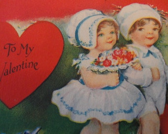 Valentine postcards early 1900s- set of four