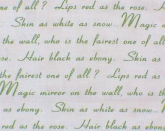 Snow White  Quotes Fabric, Disney Fabric, Thomas Kinkade, By the Yard