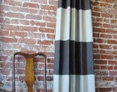 "108""L Striped Drapery Panel - Custom Curtains - 28 color options"