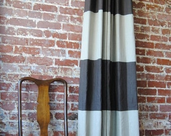 "120""L Striped Drapery Panel - custom curtains - 28 Color Options"