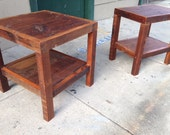 The Streifer Tables-Rustic Modern Wooden Nightstands, Side tables or End Tables Made Reclaimed New Orleans Homes
