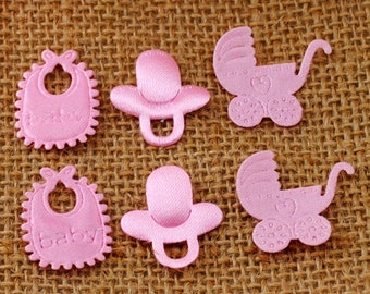 Pink Padded Appliques-Baby Items-45 PCS