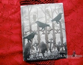 Gothic Halloween Greeting Card - Murder of Cemetery Ravens - Happy Haunting