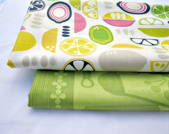 Fabric BUNDLE-Kitchy Kitchen- by Maude Asbury-Citruses-cotton fabric -2 half yard cuts