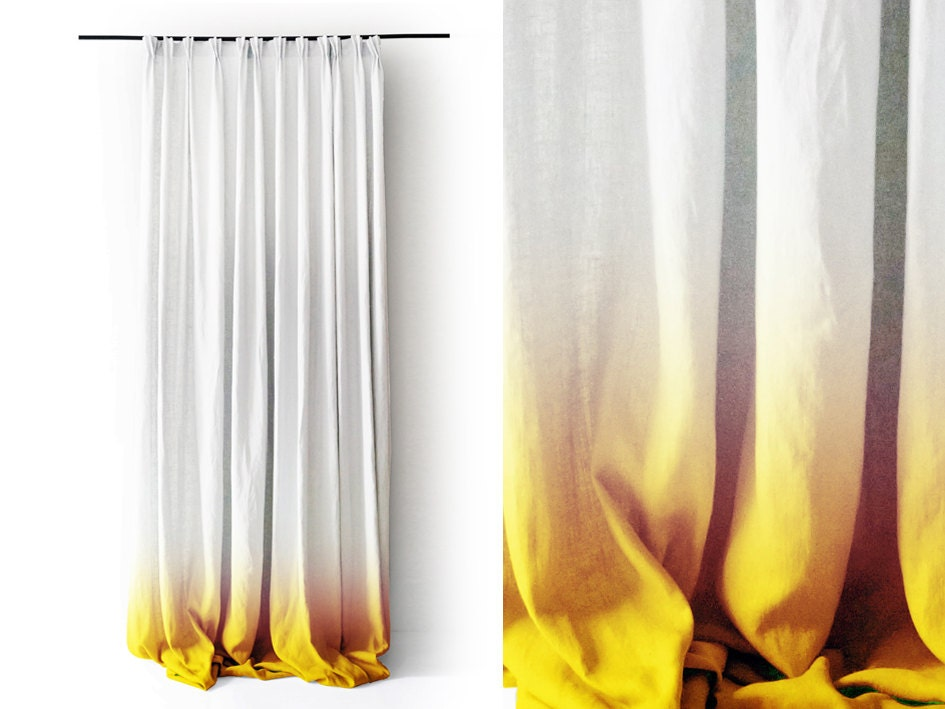 yellow ombre curtains