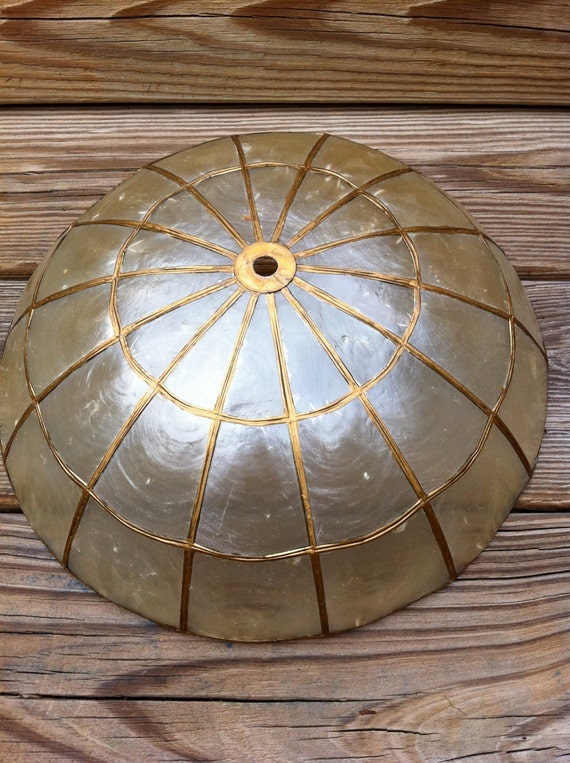 Capiz Shell Light Fixture Shade