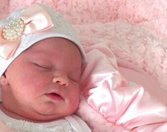 Newborn Infant Girl take me home Hospital Hat Layette