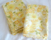2 Vintage Yellow Shabby Cottage Floral Pillowslip Covers