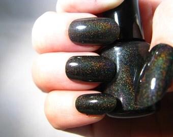 Event Horizon black holographic Nail Polish by Comet Vomit