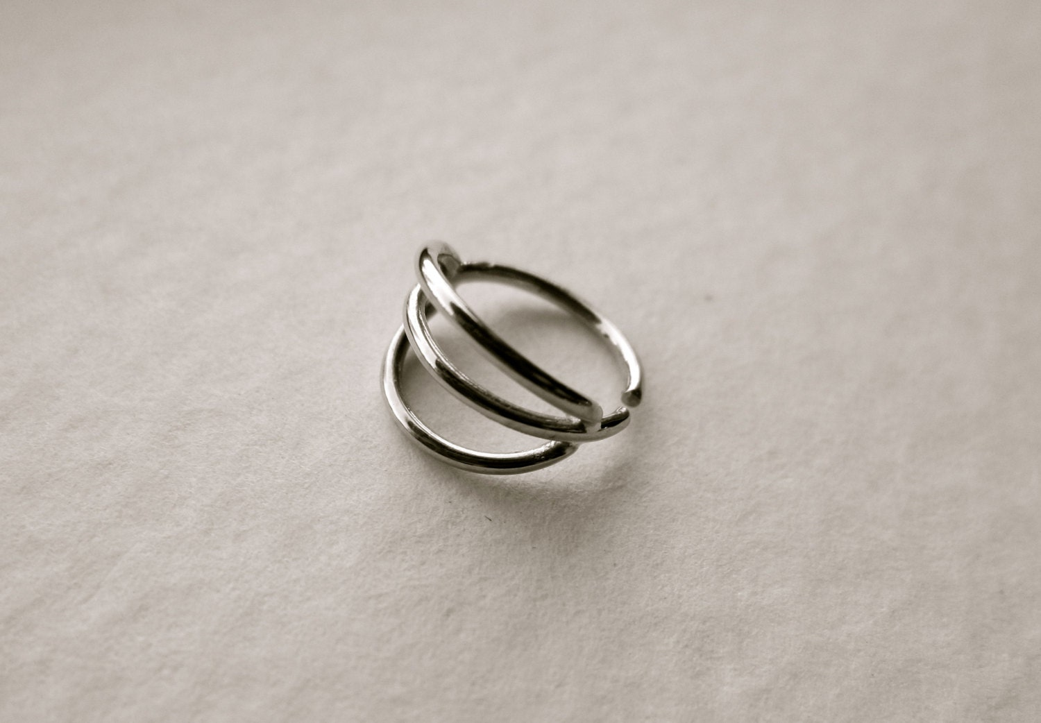 troika silver nose ring silver septum jewelry