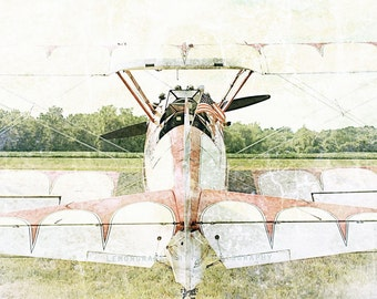 Patriot, Antique Airplane, Aeronautical Photography, Fine Art Print, Aircraft, Biplane, Tail, Aviation Wall Art, Airplanes Home Decor