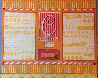 C is for Celebrate - 12x12 Premade 1 Page Scrapbook Layout