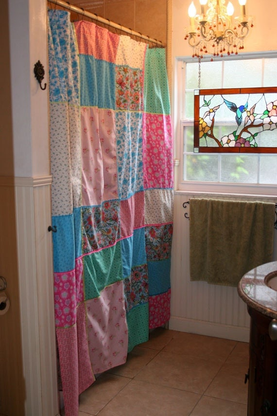 Patchwork Shower Curtain Whimsical Prints