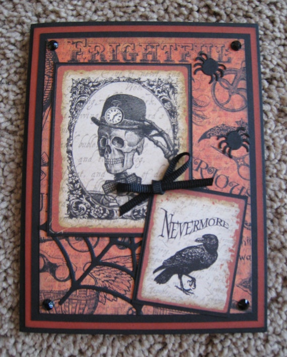 Graphic 45 Halloween Card - Steampunk Spells