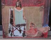 """PSYCHOSIS - Collage original art piece. 4x5"""" inches"""