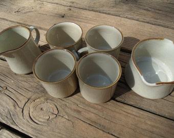 Vintage Coffee Tea Mug Set of 6