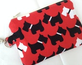 Scottie or Yorkie Terrier Dog Small Zipper Pouch