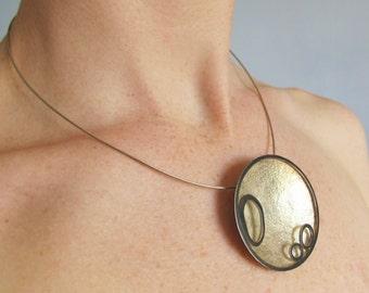 Sterling silver Pendant- Lunar pendant
