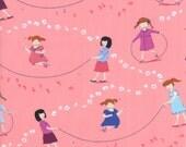 Half Yard Hello Petal Jump Rope in Tickle Peach, Aneela Hoey, Moda Fabrics, 100% Cotton Fabric, 18560 13
