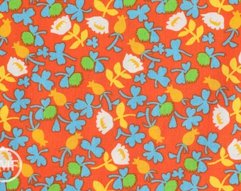 Half Yard Briar Rose Calico in Orange, Heather Ross, Windham Fabrics, 100% Cotton Fabric, 37027-3