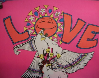 "Vintage Original ""Love is a Splendid Thing"" Poster Blacklight"