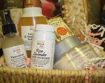 Jamilah's Body Benefits Gift Basket - Bath Salt, Body Wash, Powder & Body Spray - You Select Options or Let Us