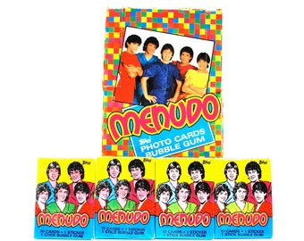 Menudo Trading Cards & Stickers by Topps lot of 4 Packs