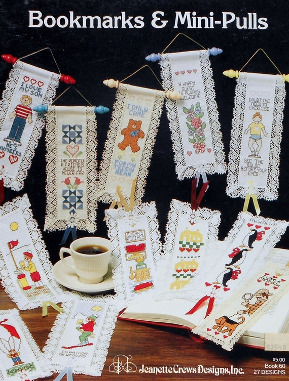 Jeanette Crews Designs, Inc. BOOKMARKS & MINI PULLS Bellpulls - Counted Cross Stitch Pattern Chart