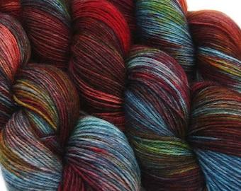 DESTINATIONS basic sock yarn BERLIN hand dyed sw wool nylon 3.5oz 460 yards