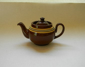 TEAPOT, Vintage L B England Individual Ceramic Teapot