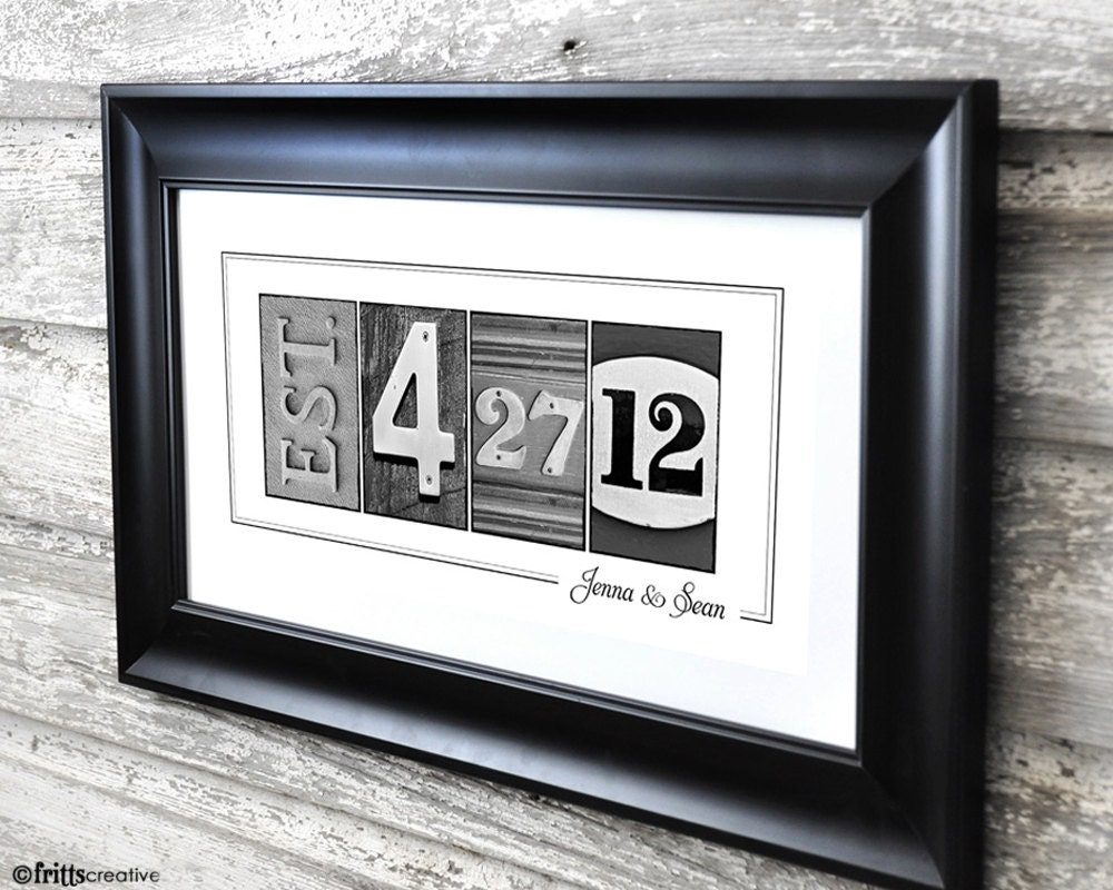 wedding date print in alphabet photography 10x20 print unframed frame your date photo numbers and dates
