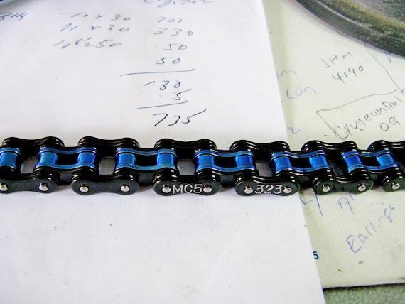 Mens Thin Blue Line Law Enforcement Bracelet 3 4 Wide