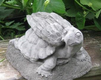 Turtle Angel Statue - Concrete