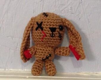 Zombie Bunny - Amigurumi - Hand Crocheted