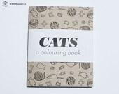 Cats - A Mini Colouring Book - 4 x 5 in