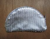 SALE - Leather Purse (silver scale)