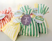 """CUSTOMIZED """"Sunny Days"""" Thank You Label Card Tags for Party Goody Bag or Favor"""