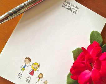personalized stick family notepad