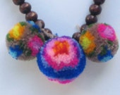 Amazing Pom Pom necklace