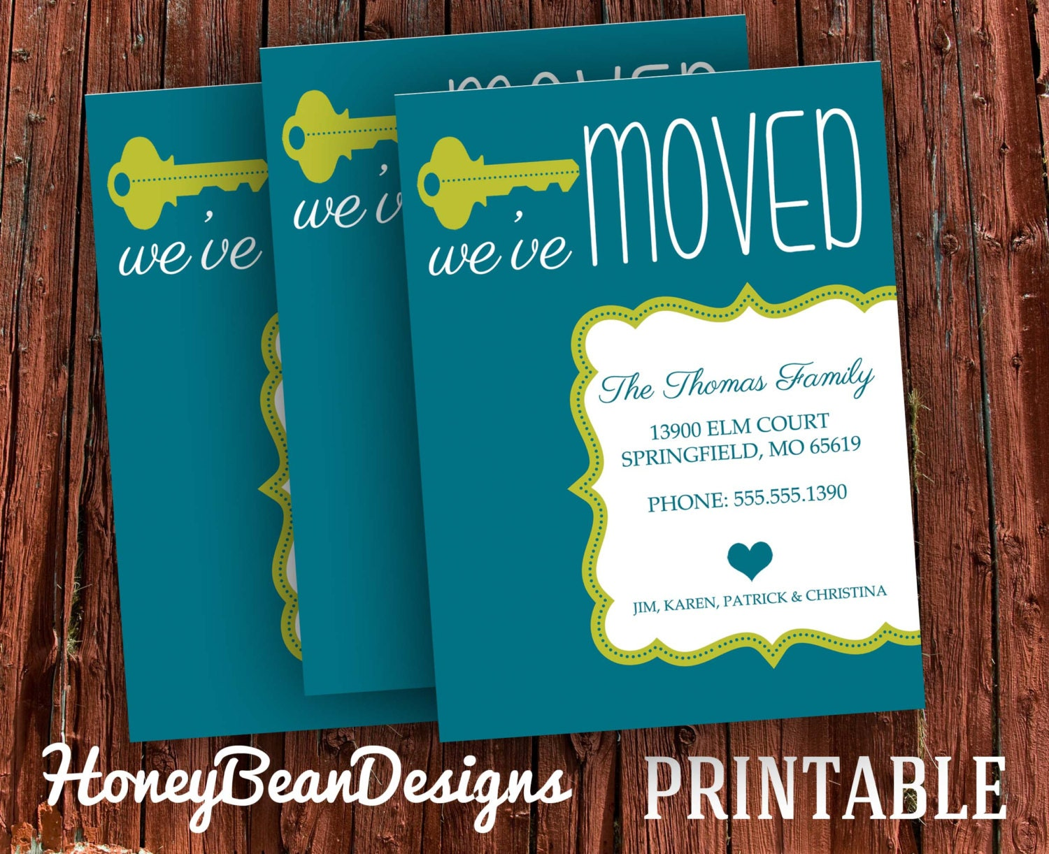 We39ve moved new address announcement card custom colors for Custom new address cards