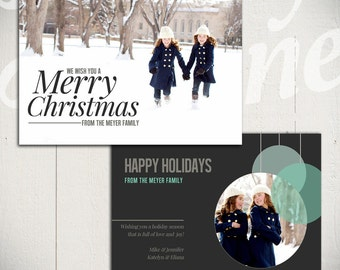 Christmas Card Template: Full of Love C - 5x7 Holiday Card Template for Photographers