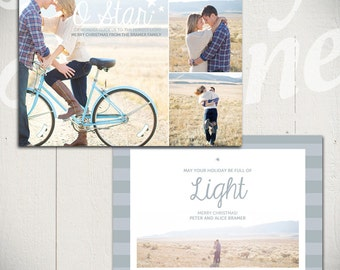 Christmas Card Template: Shine Bright D - 5x7 Holiday Card Template for Photographers