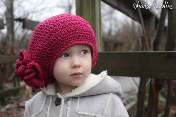 Crochet Hat Pattern: Raspberry Beret, Crochet Hat ...