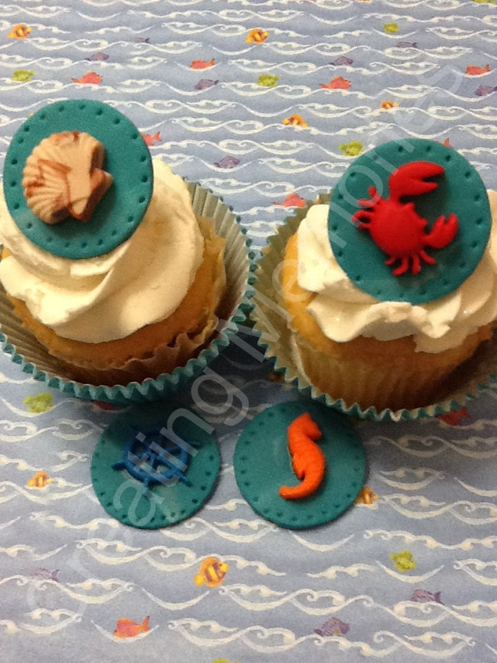 Edible Nautical Cupcake Topper Great For CUPCAKES/Cookies/Cake
