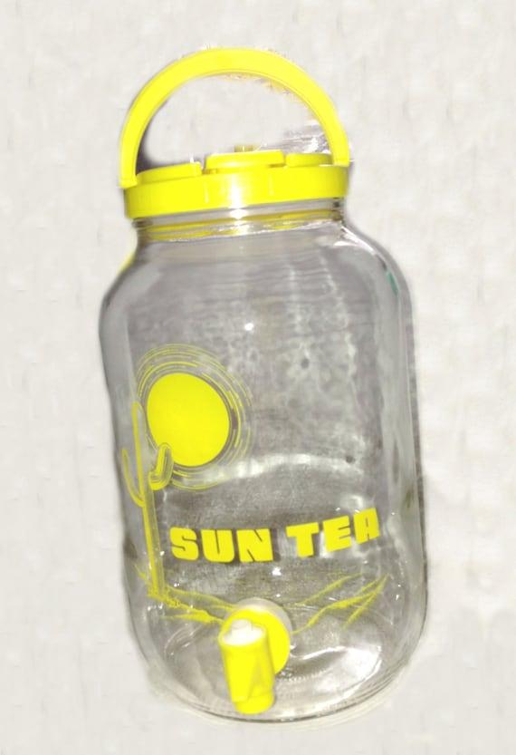 Vintage Sun Tea Glass Jar - Sun Tea Logo