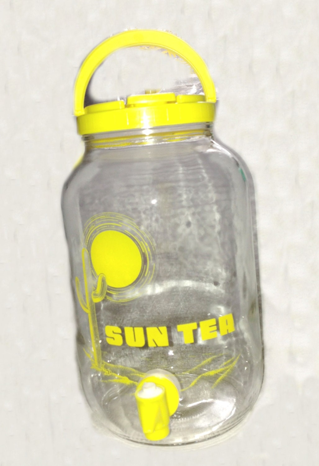 Vintage Sun Tea Glass Jar Sun Tea Logo By Jeansvintagekitchen