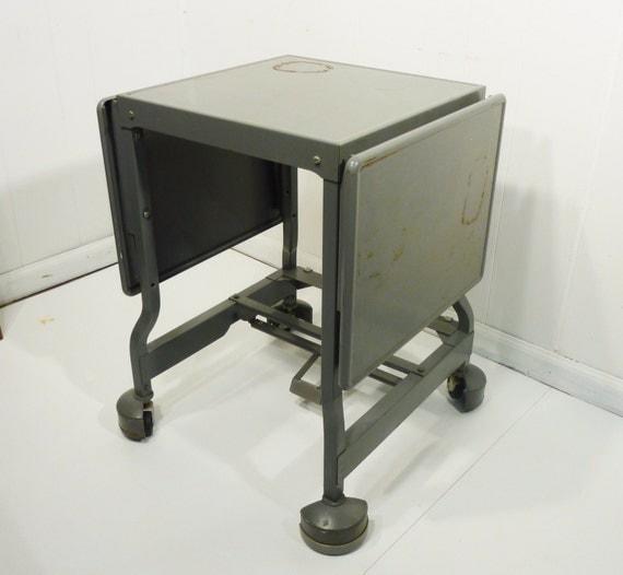 Industrial paint metal table cart drop leaf use by gillardgurl for Industrial paint for metal