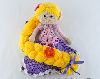 Rapunzel Lovey / Security Blanket - PDF Crochet Pattern - Instant Download - Blankie Baby Blanket