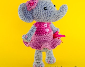 Elephant Amigurumi - PDF Crochet Pattern - Instant Download - Doll crochet Animal Cuddy Stuff Plush