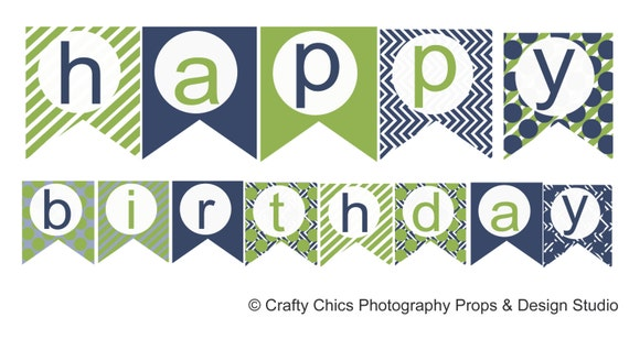 Simplicity image for printable birthday banner template